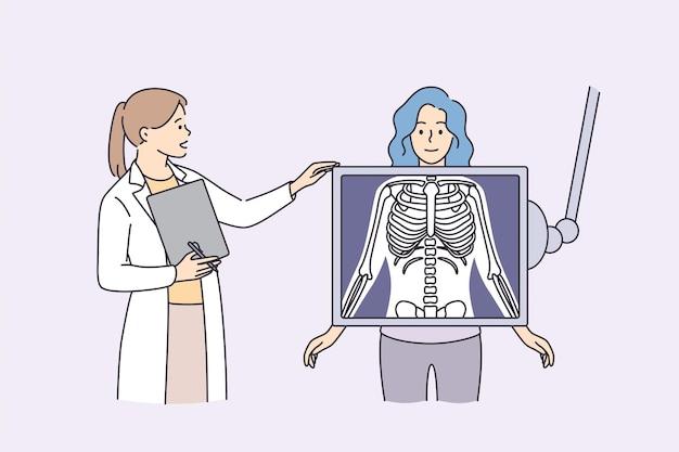 Radiologia e scansione del corpo nel concetto di medicina