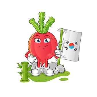 Carattere coreano di ravanello