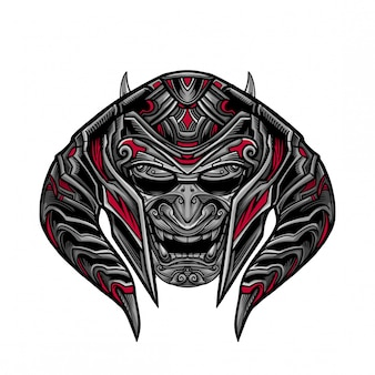 Rage warrior mask vector