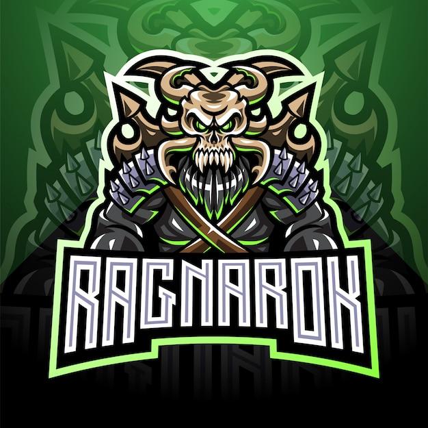 Ragnarok esport mascot logo design