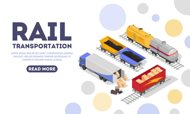 Modello di pagina di destinazione del trasporto ferroviario