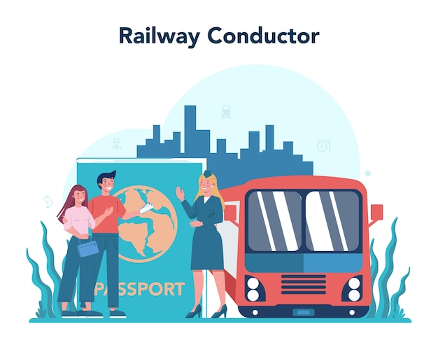 Concetto di conduttore ferroviario