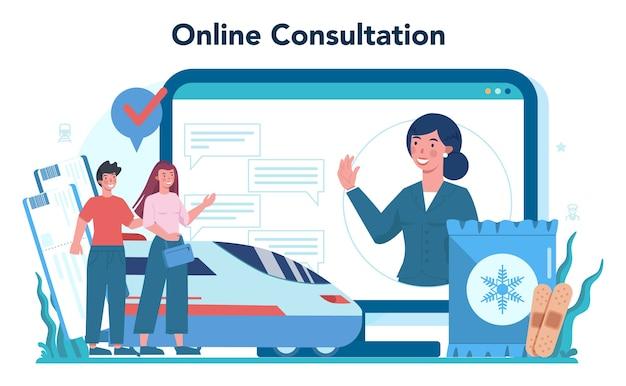 Piattaforma o servizio online di conduttori ferroviari