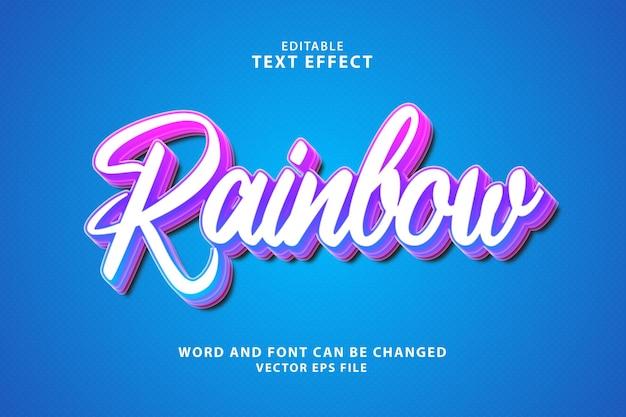 Effetto di testo eps modificabile 3d arcobaleno
