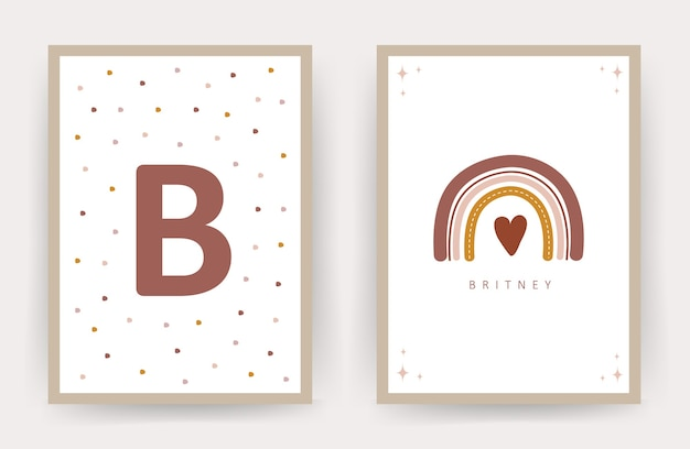 Set di poster di boho arcobaleno