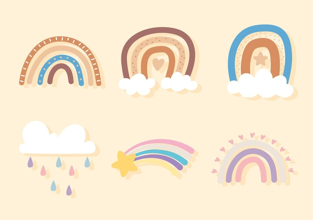 Pioggia di nuvole arcobaleno