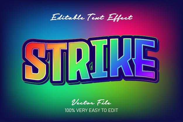 Effetto di testo moderno colorato arcobaleno