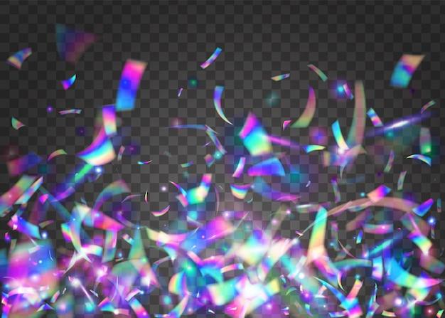 Bagliore arcobaleno. scintillio al neon. foil webpunk. sfondo. effetto metallo blu