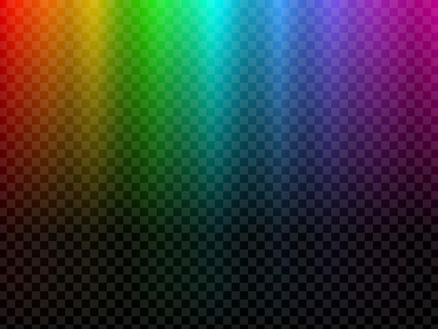 Luce incandescente arcobaleno. effetto polare della luce nordica