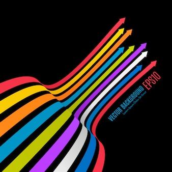 Sfondo di linee arcobaleno. sfondo colorato. per le tue presentazioni aziendali.