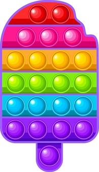 Gelato ghiacciolo antistress giocattolo arcobaleno