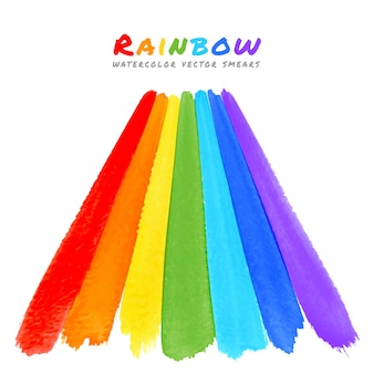 Macchie di pennello acquerello arcobaleno
