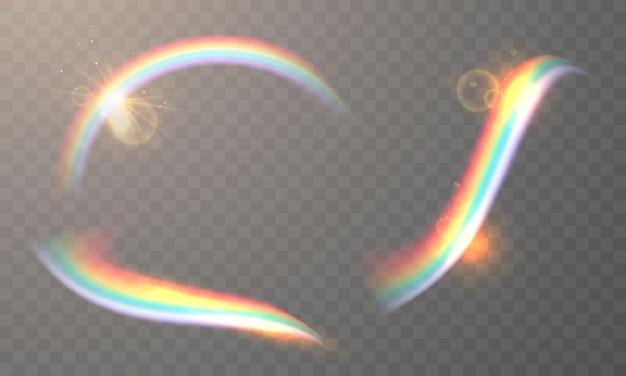 Set di arcobaleni isolati