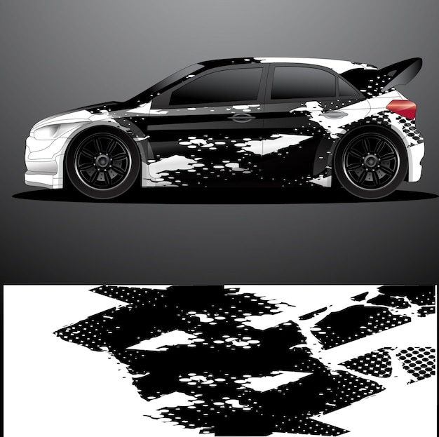 Rally car decal grafica avvolgere disegno astratto