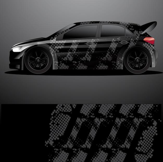 Fondo astratto di vettore dell'involucro grafico della decalcomania dell'automobile di rally