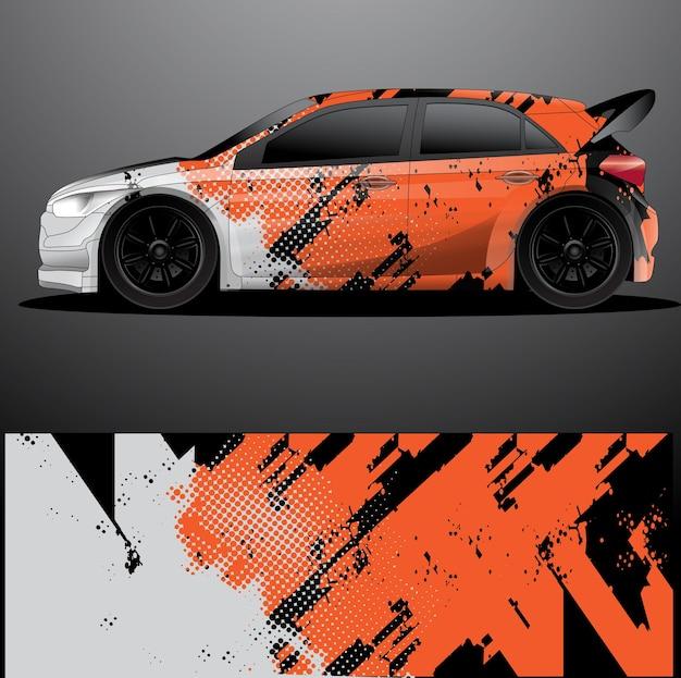 Wrap grafica decalcomania auto da rally y