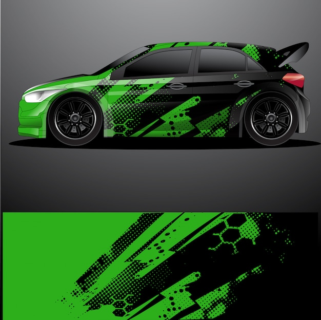 Involucro grafico auto da rally