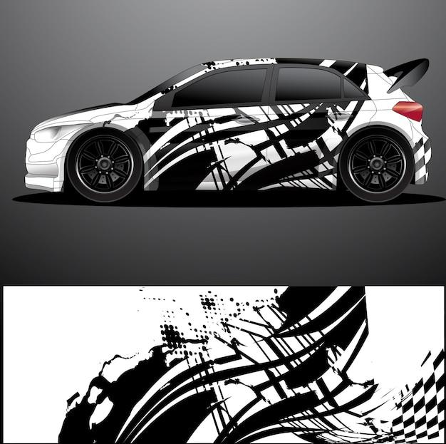 Adesivo grafico decalcomania per auto da rally