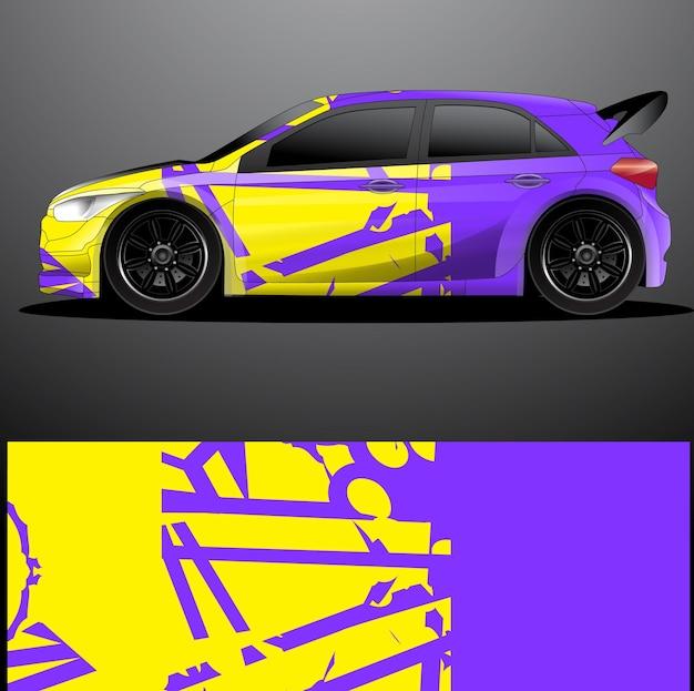 Involucro grafico decalcomania auto da rally