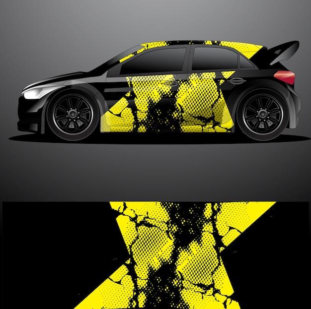 Modello di decalcomania per auto da rally