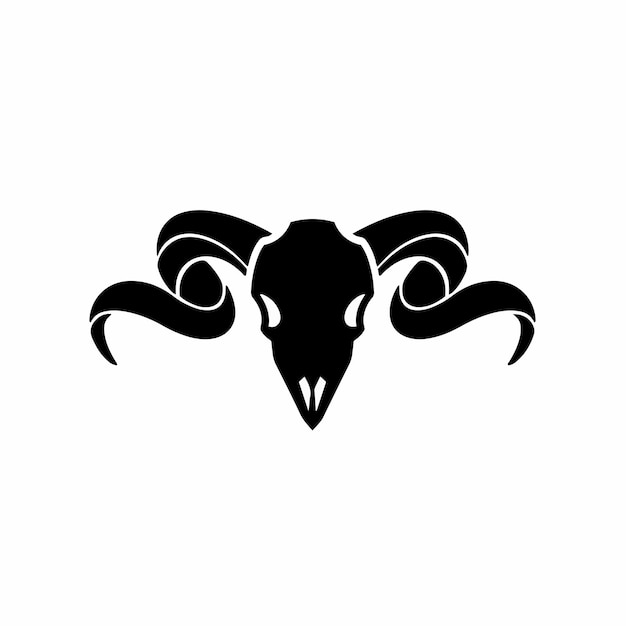 Ram simbolo logo tattoo design stencil vector illustration