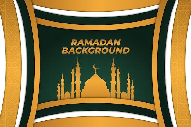 Sfondo ramadan islamico oro verde bianco
