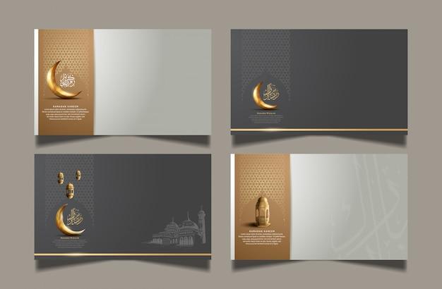 Design ramadan impostato per celebrare la celebrazione del santo ramadan