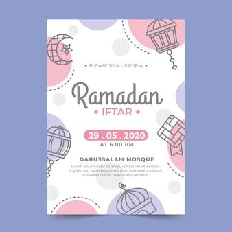 Modello di invito iftar ramadan