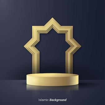 Ramadan kareem simboli realistici 3d delle festività islamiche arabe