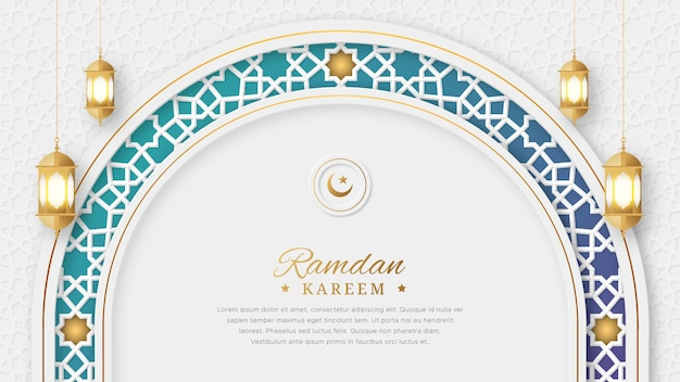 Ramadan kareem arabo elegante di lusso