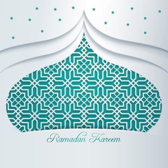 Ramadan kareem motivo geometrico arabo