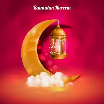 Modello struttura ramadan kareem.