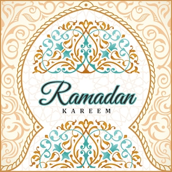 Sfondo di saluto di ramadan kareem