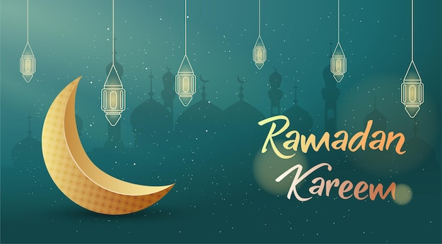 Banner di saluto di ramadan kareem
