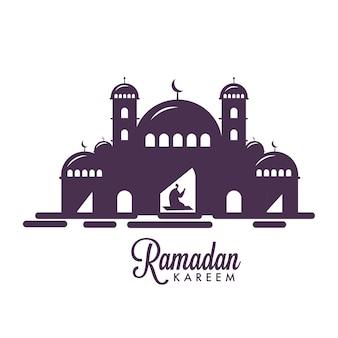 Cartolina d'auguri di ramadan kareem.