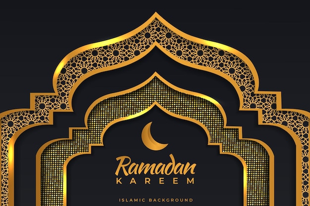 Ramadan kareem sfondo islamico oro nero colori