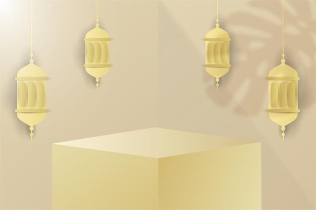 Ramadan kareem sfondo islamico podio