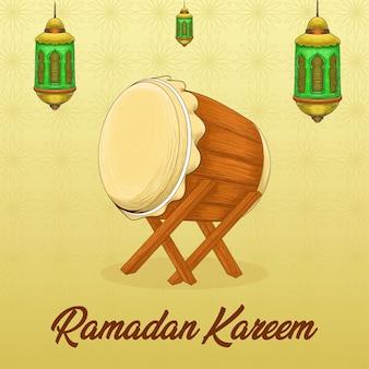 Cartone animato islamico di ramadan kareem