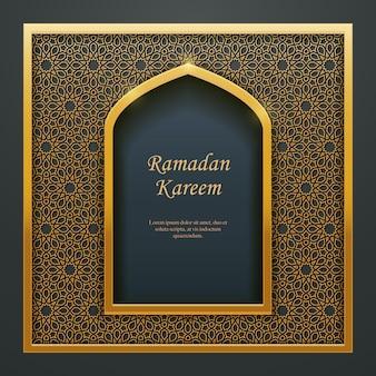 Ramadan kareem design islamico moschea porta finestra tracery