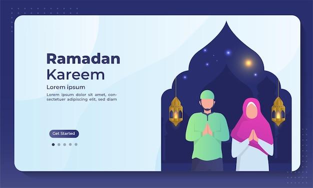 Pagina di destinazione del ramadan kareem