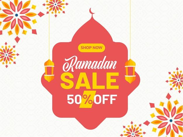 Ramadan kareem o ramazan kareem concept