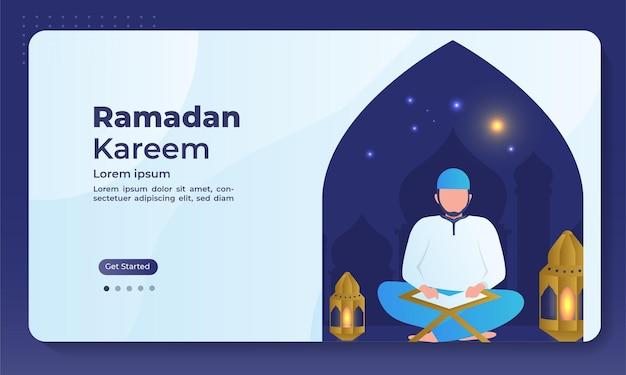 Modello di pagina di destinazione del ramadan