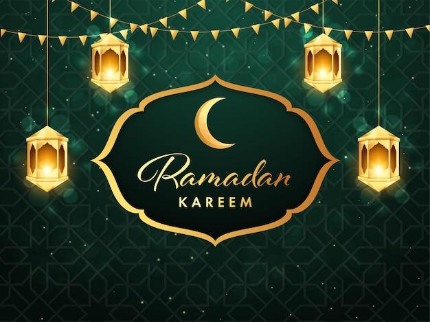 Illustrazione di concetto di ramadan mubarak