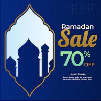 Banner di vendita di ramadan