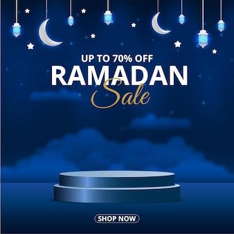 Podio di vendita del ramadan