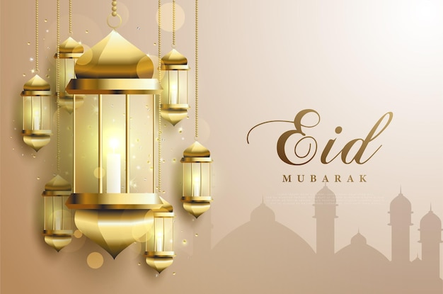 Ramadan con una candela accesa all'interno di una lanterna.