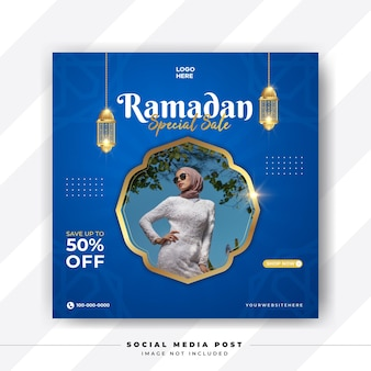 Ramadhan fashion sale instagram post modello di promozione dei social media