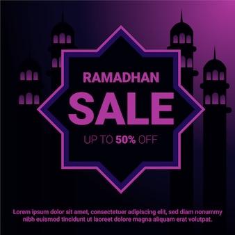 Bandiera del modello di sconto vendita ramadhan