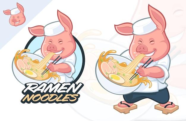 Ramen mascot design