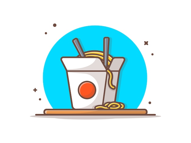Ramen noodles icona illustrazione